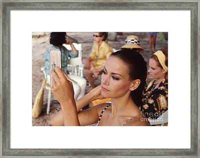 Claudine Auger And Luciana Paluzzi In Thunderball Framed Print