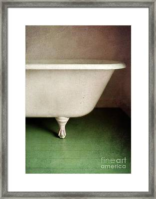 Claw Foot Tub Framed Print by Jill Battaglia