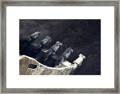 Claw - Industrial Photography By Sharon Cummings Framed Print by Sharon Cummings