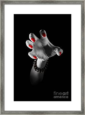 Clawhand Attack Framed Print
