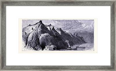 Clay Cliffs On The Shore Of Lake Michigan United States Framed Print