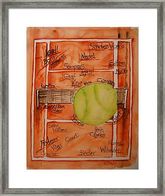 Clay Courters Framed Print