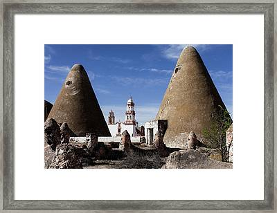 Clay Ovens For Baking The Mezcal Plant Framed Print by Julien Mcroberts
