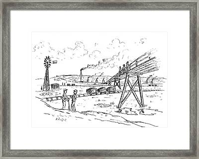Clay Pit Framed Print