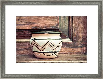 Clay Pot Framed Print