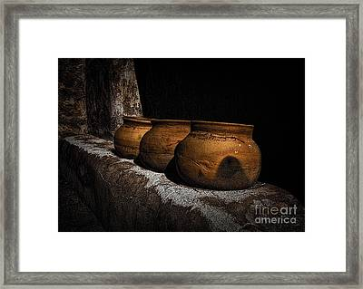 Clay Pots  ... Framed Print by Chuck Caramella