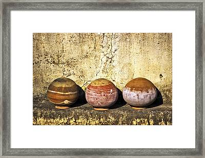 Clay Pots Framed Print