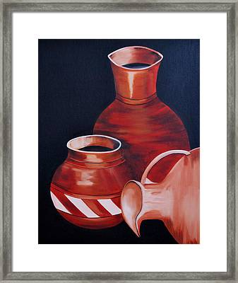 Clay Pots Framed Print