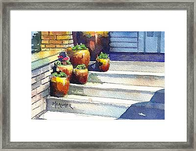 Clay Pots Framed Print by Spencer Meagher