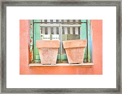 Clay Pots Framed Print by Tom Gowanlock