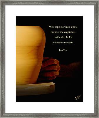 Clay Potter Framed Print by IM Spadecaller