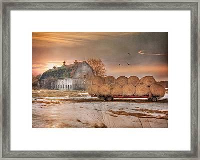 Clayton Sunset Framed Print by Lori Deiter