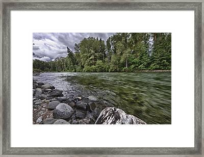 Cle Elum River Framed Print
