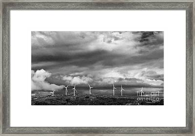 Clean Energy - Wind Turbines Framed Print by Jose Elias - Sofia Pereira