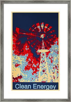 Clean Energy Poster Framed Print