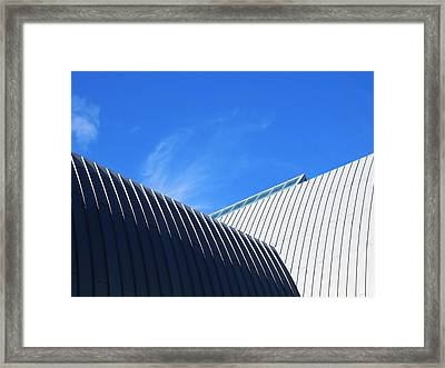 Clean Lines - Architectural Photography By Sharon Cummings  Framed Print