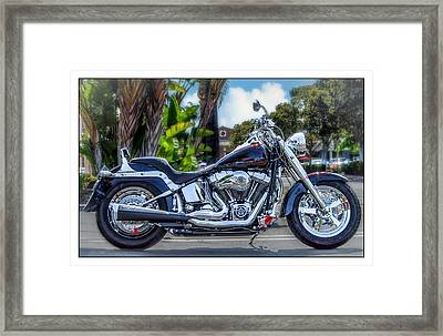 Framed Print featuring the photograph Clean Looking Harley by Steve Benefiel