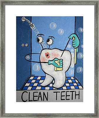 Clean Tooth Framed Print by Anthony Falbo