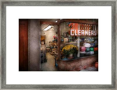 Cleaner - Ny - Chelsea - The Cleaners Framed Print by Mike Savad