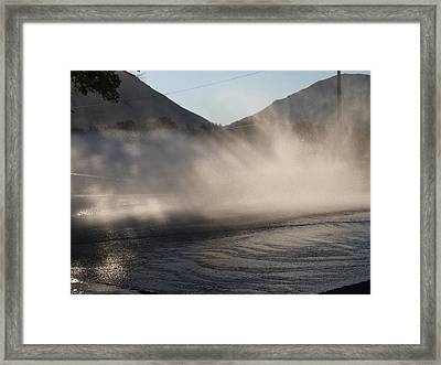 Cleaning The Street Framed Print by Kay Port
