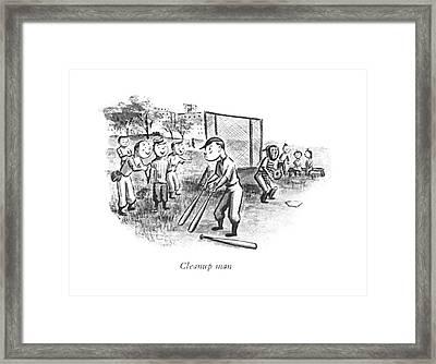 Cleanup Man Framed Print