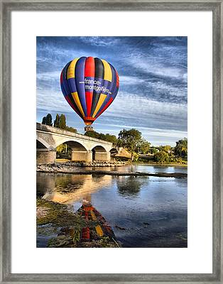Clear And Away Framed Print