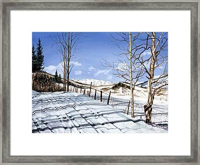 Clear Blue Silence Framed Print