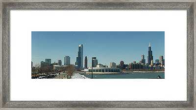 Framed Print featuring the photograph Clear Cold Chicago Day by Teresa Schomig