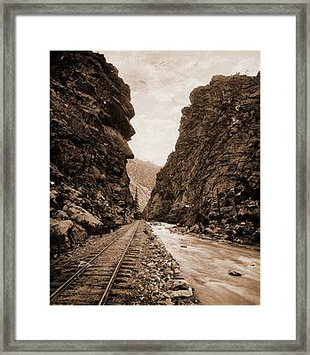 Clear Creek Canon, Colorado, Jackson, William Henry Framed Print