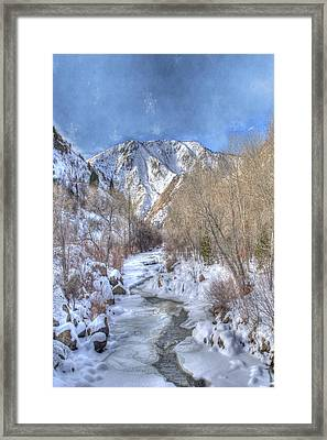 Clear Creek In The Winter Framed Print by Juli Scalzi