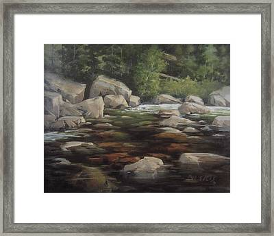 Clear Creek Framed Print by Mar Evers