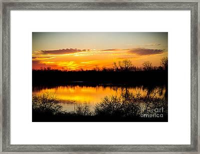 Clear Creek Sunrise Framed Print