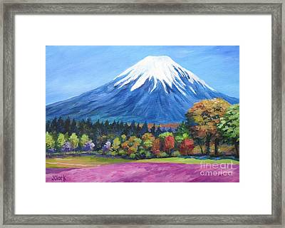 Clear Day Mount Fuji Framed Print by John Clark