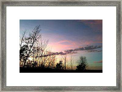 Framed Print featuring the photograph Clear Evening Sky by Linda Bailey