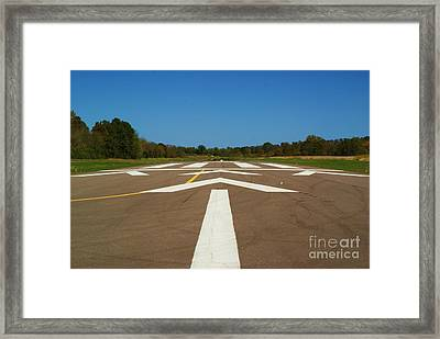 Framed Print featuring the photograph Clear For Take Off by Julie Clements
