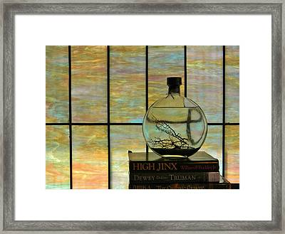 Clear On Color Framed Print