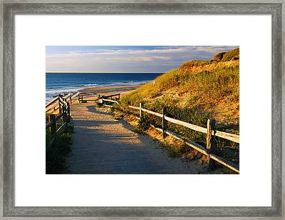 A Path To The Sea Framed Print