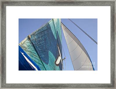 Clear Skies And Full Sails Framed Print by Jennifer Apffel
