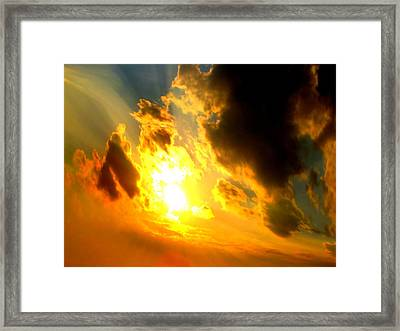 Clear Sky Framed Print by Jose Lopez