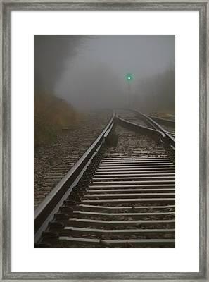 Clear Track Framed Print by Odd Jeppesen