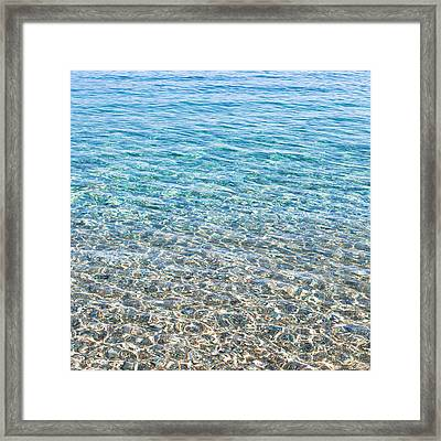 Clear Water Framed Print by Tom Gowanlock