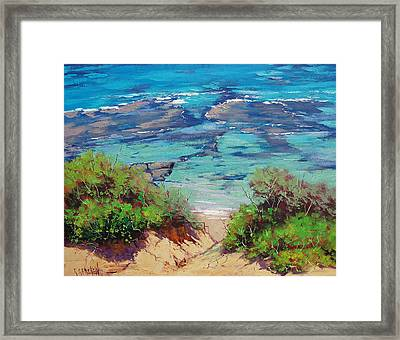 Clear Waters Norah Head Framed Print by Graham Gercken