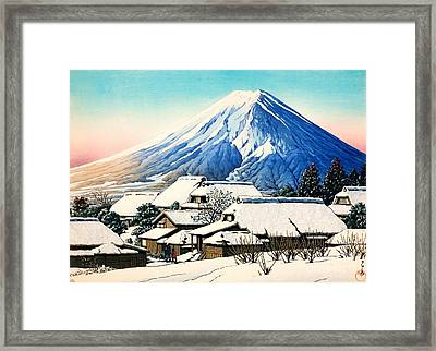 Clearing After Snowfall Framed Print by Pg Reproductions