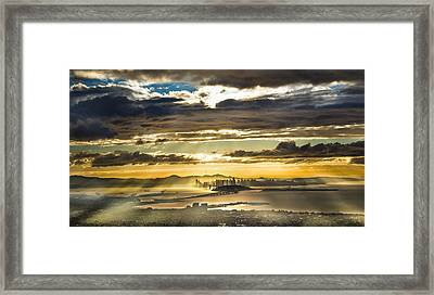 Clearing Bay Storm Framed Print