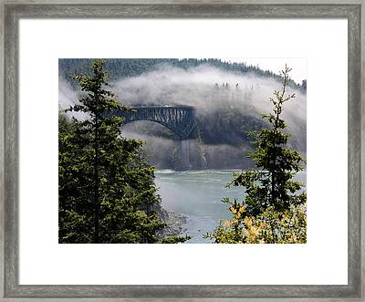 Clearing Fog Framed Print