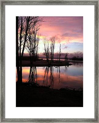 Clearing On The River Framed Print