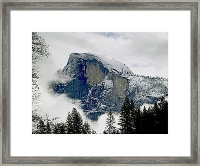 Clearing Storm Around Half Dome Framed Print by Bill Gallagher