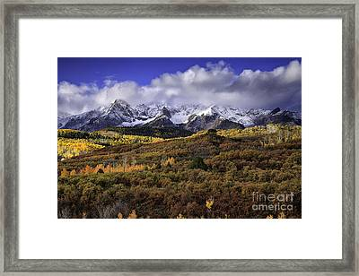 Clearing Storm At The Dallas Divide Framed Print