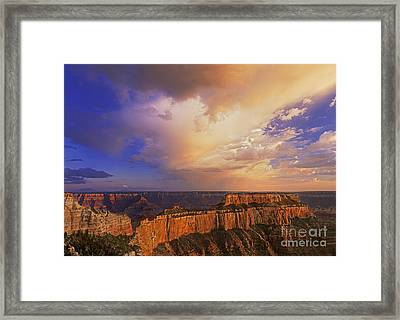Framed Print featuring the photograph Clearing Storm Cape Royal North Rim Grand Canyon Np Arizona by Dave Welling