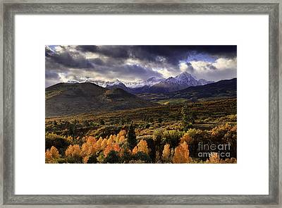 Clearing Storm The Sneffels Range Framed Print